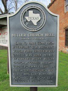 Texas Historical Marker - Butler Church Bell