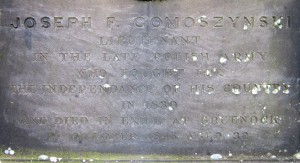 Joseph F Gomoszynski Monument Inscription