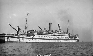 HMHS Asturias (torpedoed and sunk by the Germans 20 March 1917.