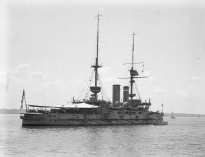 HMS Implacable at Spithead, 1909