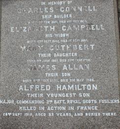 Alfred Hamilton Connell - Inscription