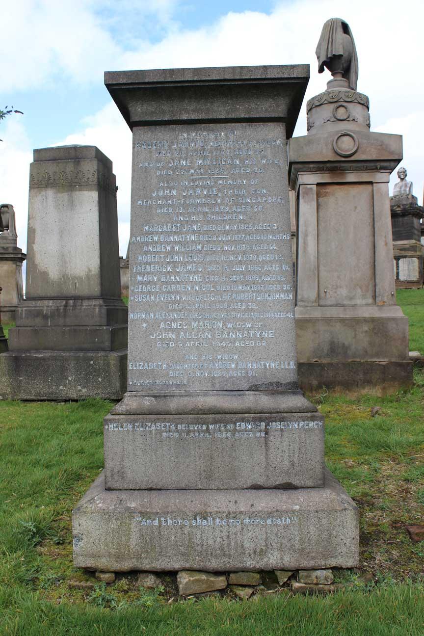 Norman Alexander  Jarvie Monument- Sigma Glasgow Necropolis