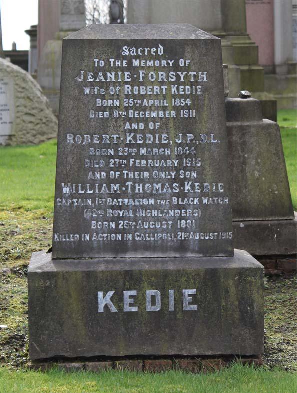 William Thomas Kedie Monument - Zeta Glasgow Necropolis