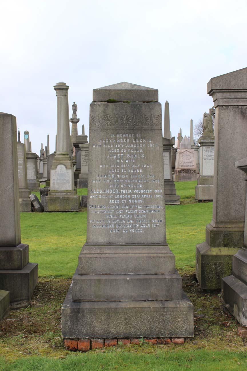 Graham Leckie Monument - Epsilon Glasgow Necropolis