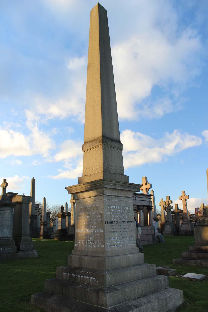 Eric Robert Donaldson Longton - Zeta Glasgow Necropolis