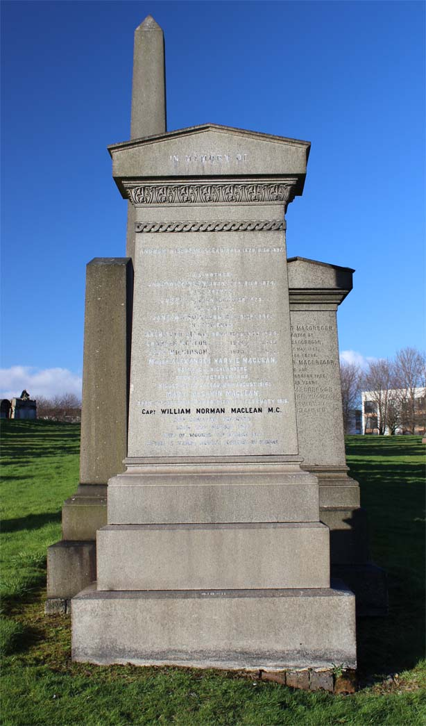 Alexander Harvie and William Norman Maclean - Epsilon Glasgow Necropolis