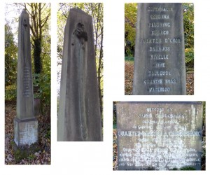 Pictures of Alexander Cruikshank's memorial in Warriston Cemetery, Edinburgh where he was buried; not in Glasgow Necropolis Photographs by kind permission of Caroline Gerard of the Friends of Warriston Cemetery, Edinburgh