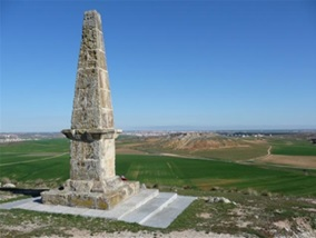 View from the British memorial on the Arapil Grande east to the heights of Arapil Chico and Salamanca on the horizon
