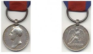 James Cruikshank was awarded the Waterloo medal