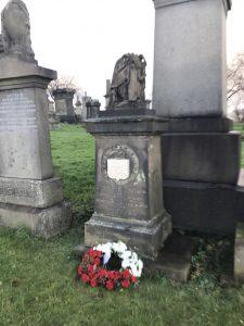 The memorial to Joseph F Gomoszynski (restored 2020)