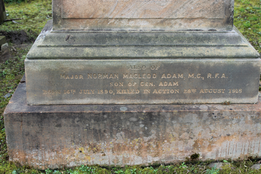 Norman Macleod Adam - Inscription 1