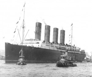 RMS Lusitania in 1907