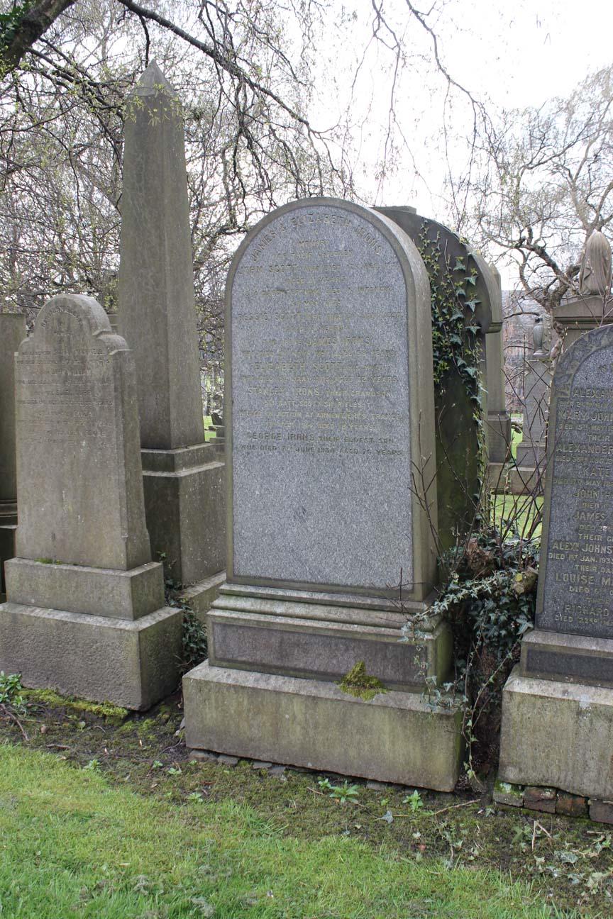 Stanley Irons Monument - Petra  Glasgow Necropolis