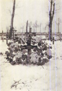James Hunter Lawrie Grave 1919/20 prior to erection of GWGC stone - courtesy of Lawrie B Short