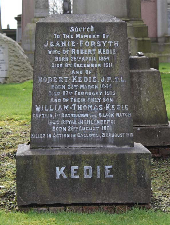 William Thomas Kedie Monument - Zeta Glasgow Necropolis