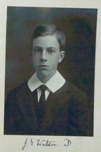 John E Watson on arrival at Charterhouse 1910 Reproduced by permission of Charterhouse School