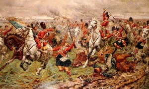 The 92nd Highlanders and the Scots Greys at Waterloo