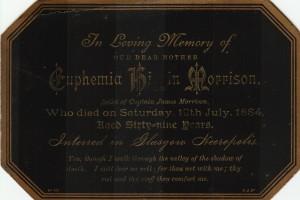 Euphemia Morrison Funeral Notice