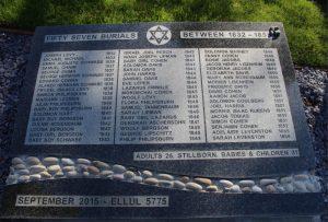 Jewish Burial Ground - memorial stone