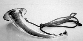 "This 10"" / 25Cms silver horn was presented to Paisley Archery Club in 1872 by Humphry Snr to be used as a competition trophy."