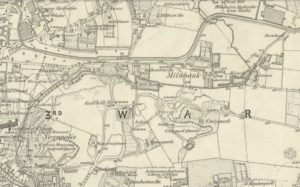 Extract from 1st edition of 6 inch Ordnance Survey map showing Milnbank and Burnbank. (NLS Creative Commons Attribution-NonCommercial-ShareAlike (CC-BY-NC-SA) licence. https://maps.nls.uk/index.html)