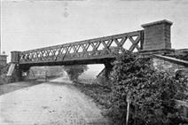 Bridge over Dumbarton Rd at Clydebank 1897