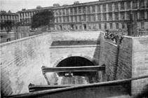 Tunnel under St Vincent Crescent, Glasgow 1896