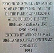 Memorial plaque added in 1991