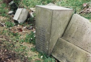Andrew Harper's toppled memorial 1995