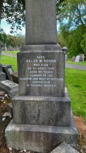 Helen Rough Memorial - Inscription