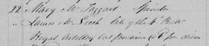 James McLeish Burial Register