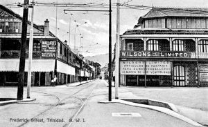 Frederick Street, Port of Spain from an old postcard