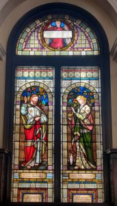 The memorial window given to Adelaide Place Baptist church by James Wilson in memory of his sister in law Victoria Taylor (by permission of Emma Boyd of APBC.)
